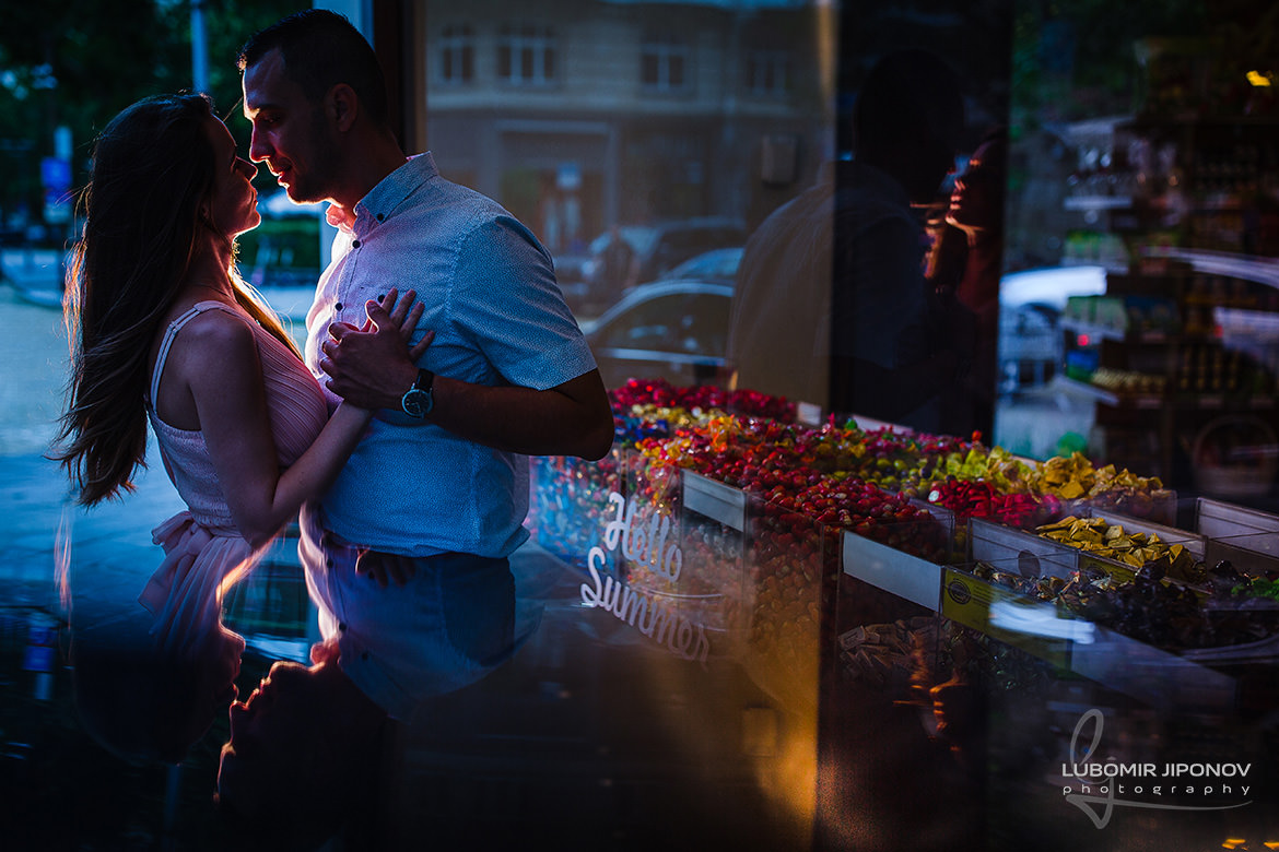 Engagement photo session in Sofia in an urban environment