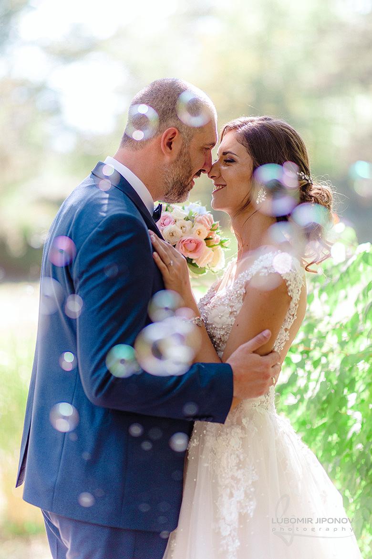 Сватбена фотосесия в парк Врана в София